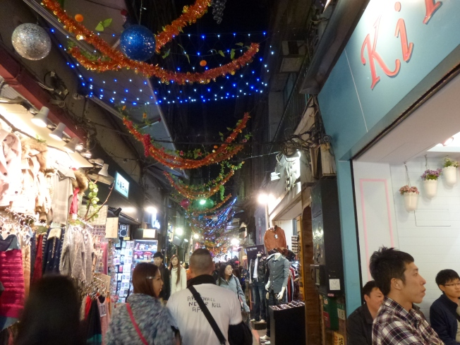 One of the many shopping alleys